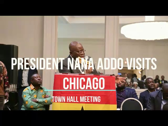 Ghana National Council of Chicago host President Nana Addo at a Town Hall Meeting
