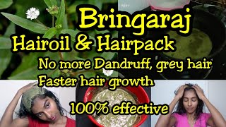 100% natural homemade hairoil & hairpack for hairgrowth|Removes dandruff, grey hair|Bringaraj|Asvi