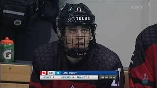 Liam Foudy - Shift-by-Shift vs USA U18