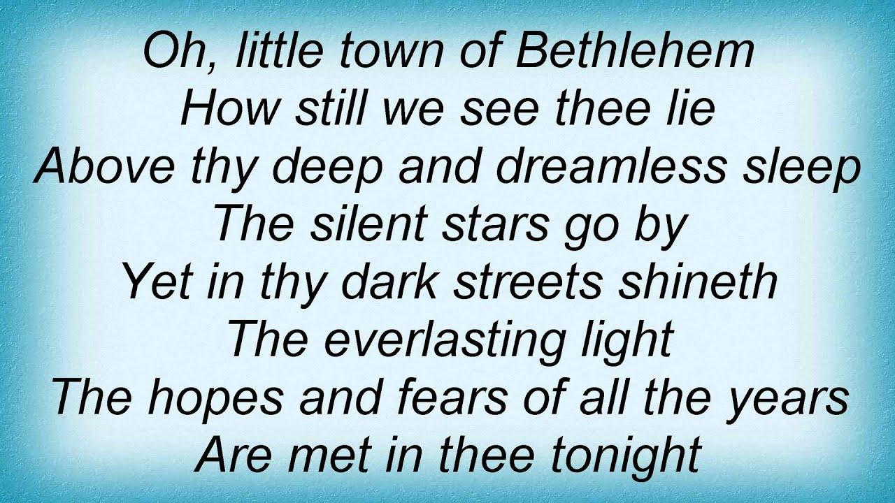 O Little Town of Bethlehem with Lyrics | Christmas Carol ...