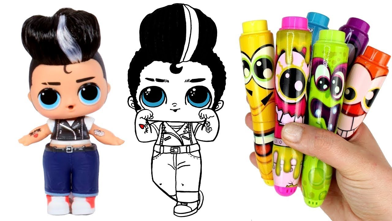Drawing and Coloring an LOL Surprise Boy Doll | How to ...