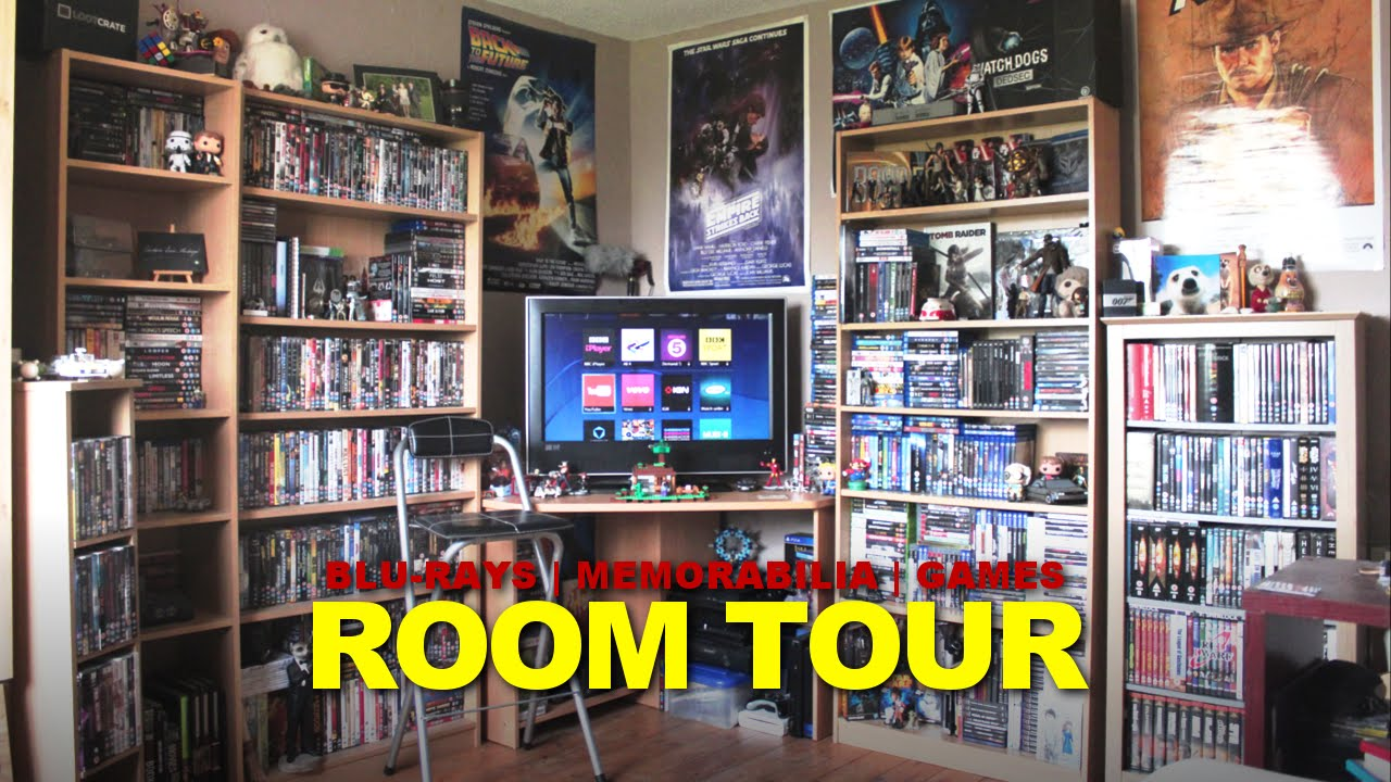 Man Cave War Room : Man cave room tour 2016 blu ray memorabilia games collection