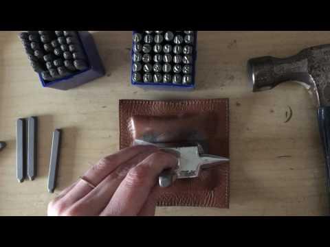 Handstamping Monogrammed Necklace
