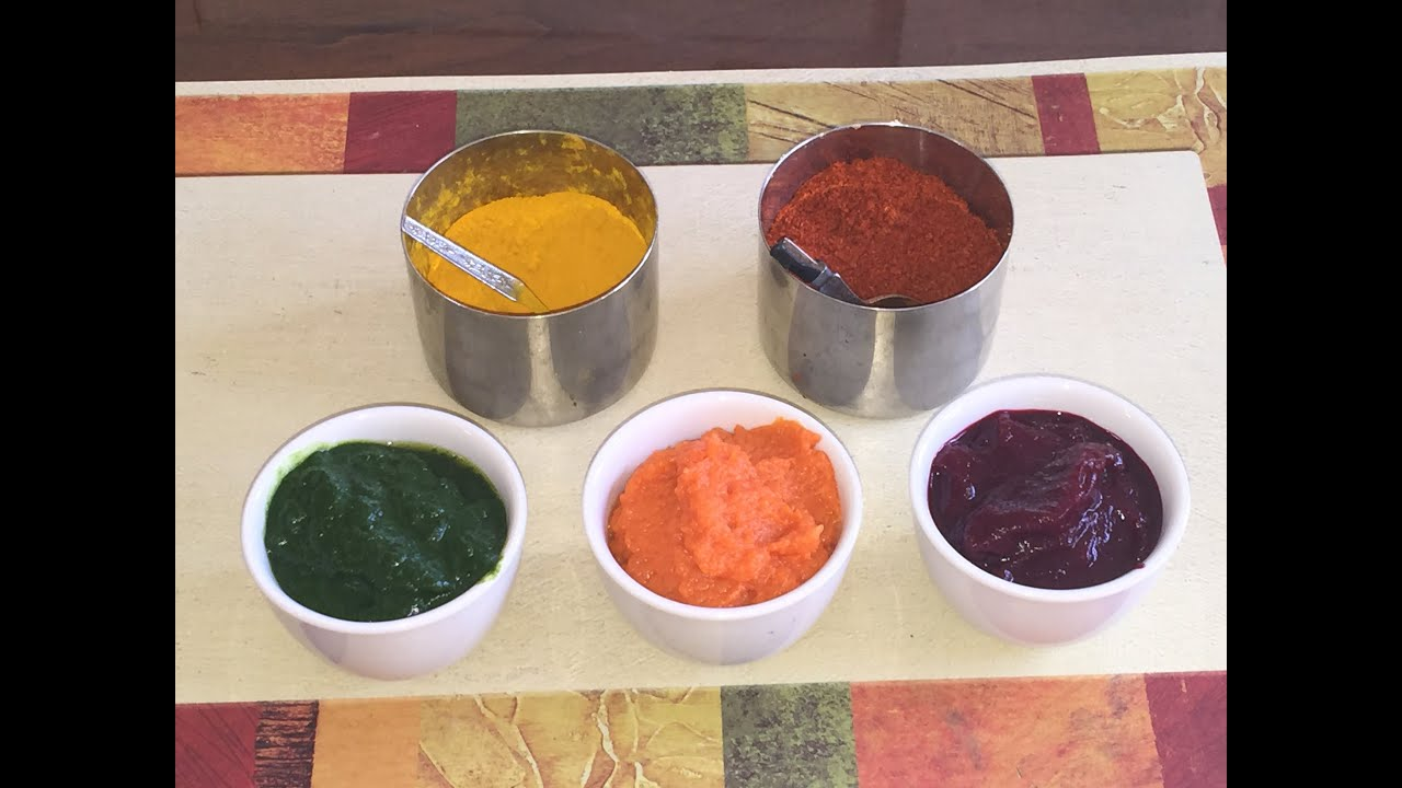 Homemade Natural Food Colors Video Recipe by Bhavna - YouTube