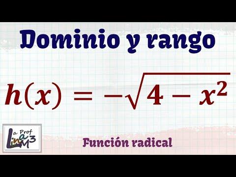 Dominio y rango de una función radical | Ejercicio 1 | La Prof Lina M3