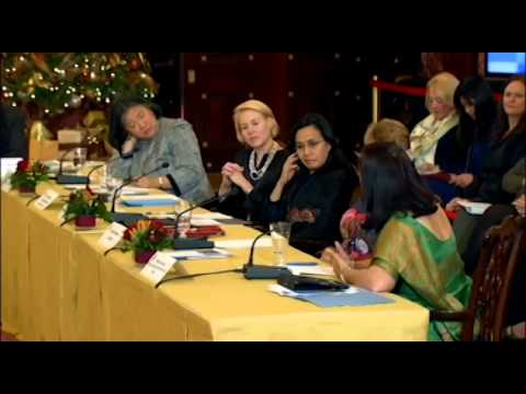 Hillary Clinton And Meera Sanyal on women's business leadership