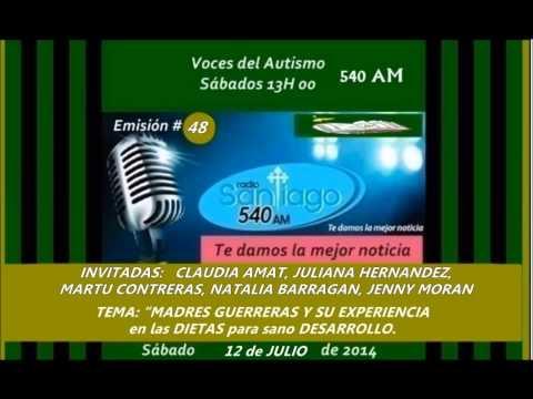 Radio SANTIAGO P48: CLAUDIA, JULIANA, MARTU, NATALIA, JENNY  y Dietas desarrollo hijos, 2014.07.12.