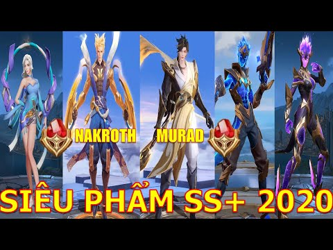 5 Trang phục SS+ hút máu nhất 2020 đá quý ko mua nổi ra mắt Nakroth Thần Sấm, Murad Viêm đế...