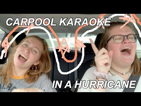 CARPOOL KARAOKE IN A HURRICANE!!! - Sydney Pendergrass