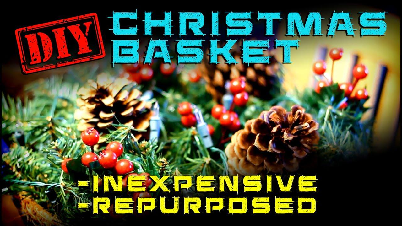 christmas hanging basket diy decorations - Christmas Hanging Baskets