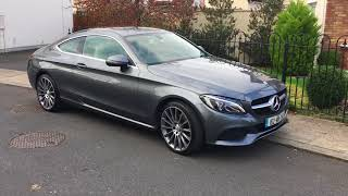 2016 Mercedes C Coupe Selenite Grey, walkaround