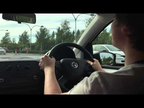 Hayden's driving lesson (aged 14) at Young Drivers in Milton Keynes