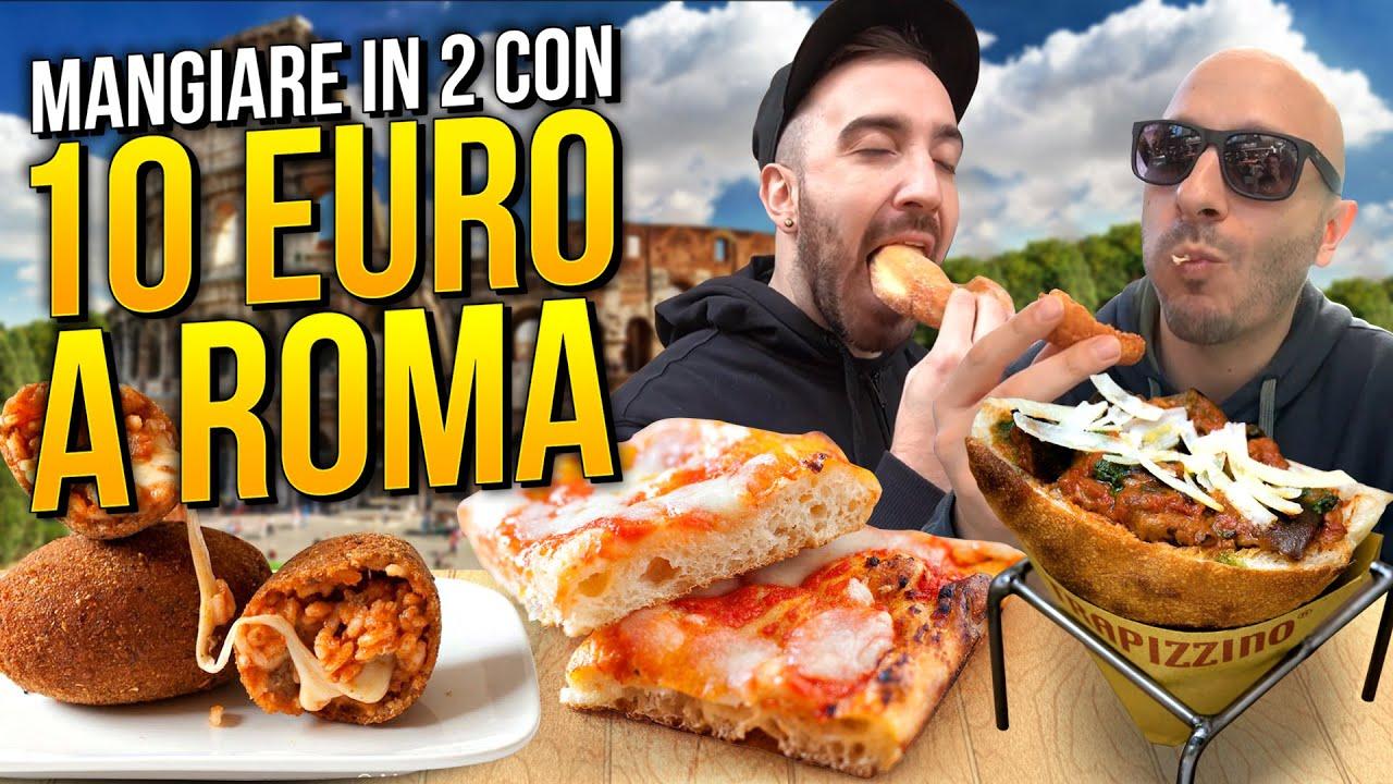 Download 10 EURO CHALLENGE: MANGIARE IN DUE a ROMA con 10 EURO!