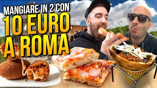 10 EURO CHALLENGE: MANGIARE IN DUE a ROMA con 10 EURO!