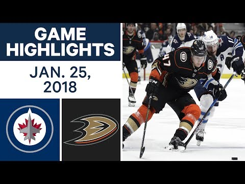NHL Game Highlights | Jets vs. Ducks - Jan. 25, 2018