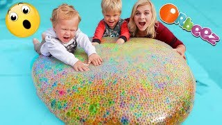 GIANT ORBEEZ WATER BALLOON? What Happens?! // SoCassie