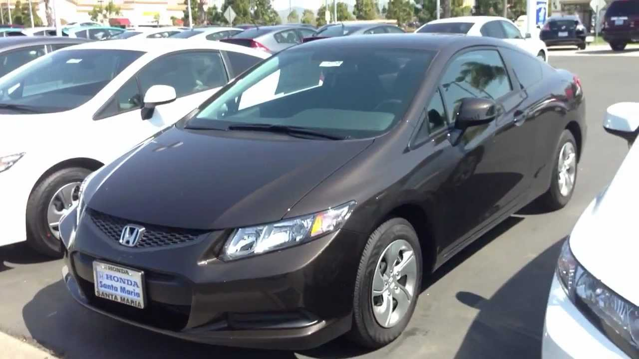 Captivating 2013 Honda Civic Lx Coupe Kona Coffee Metallic   YouTube