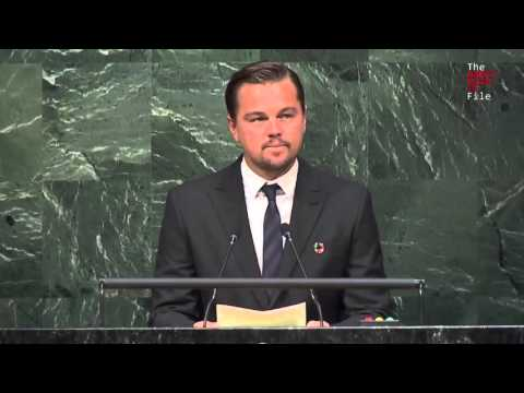 DiCaprio: UN is 'last best hope of Earth' to stop 'impending disaster for all living things'