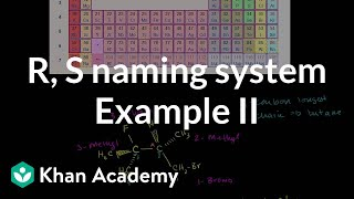 R,S (Cahn-Ingold-Prelog) Naming System Example 2(R,S (Cahn-Ingold-Prelog) Naming System Example 2 More free lessons at: http://www.khanacademy.org/video?v=peQsBg9P4ms., 2010-07-28T16:06:06.000Z)
