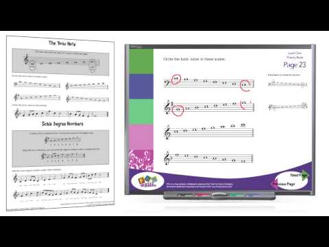 Interactive Music Theory with worksheets