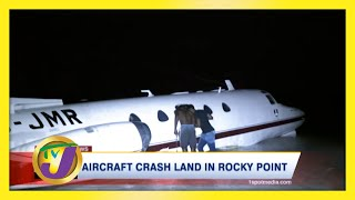 Aircraft Crash Land in Rocky Point Jamaica