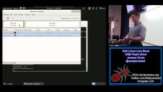 Kali Linux Live Boot USB Flash Drive Jeremy Druin @webpwnized