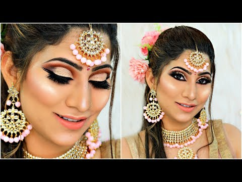 Indian WEDDING Party PINK Makeup - Step by Step Tutorial For Beginners | #Bridal #Beauty #Anaysa thumbnail