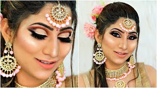 Indian WEDDING Party PINK Makeup - Step by Step Tutorial For Beginners | #Bridal #Beauty #Anaysa