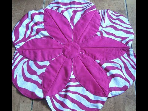 Table Mat/thaal Posh/ floor mat/ carpet easy method/ recycle old clothes