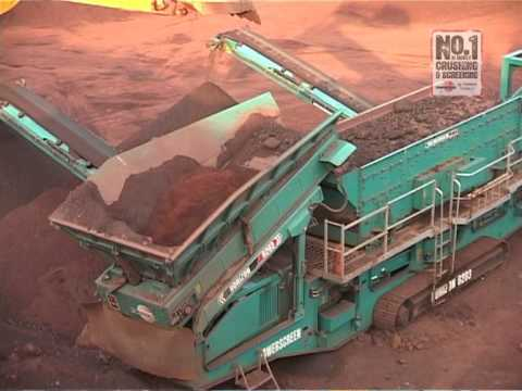 Powerscreen: Iron Ore Mining Application - Cone crushers, jaw crushers and mobile screens