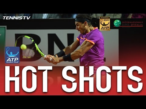 Hot Shot: Nadal Punches In Backhand Winner At Rome 2017