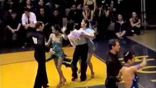 Michigan Ballroom Dance Competition 2012 Novice SemiFinal Samba