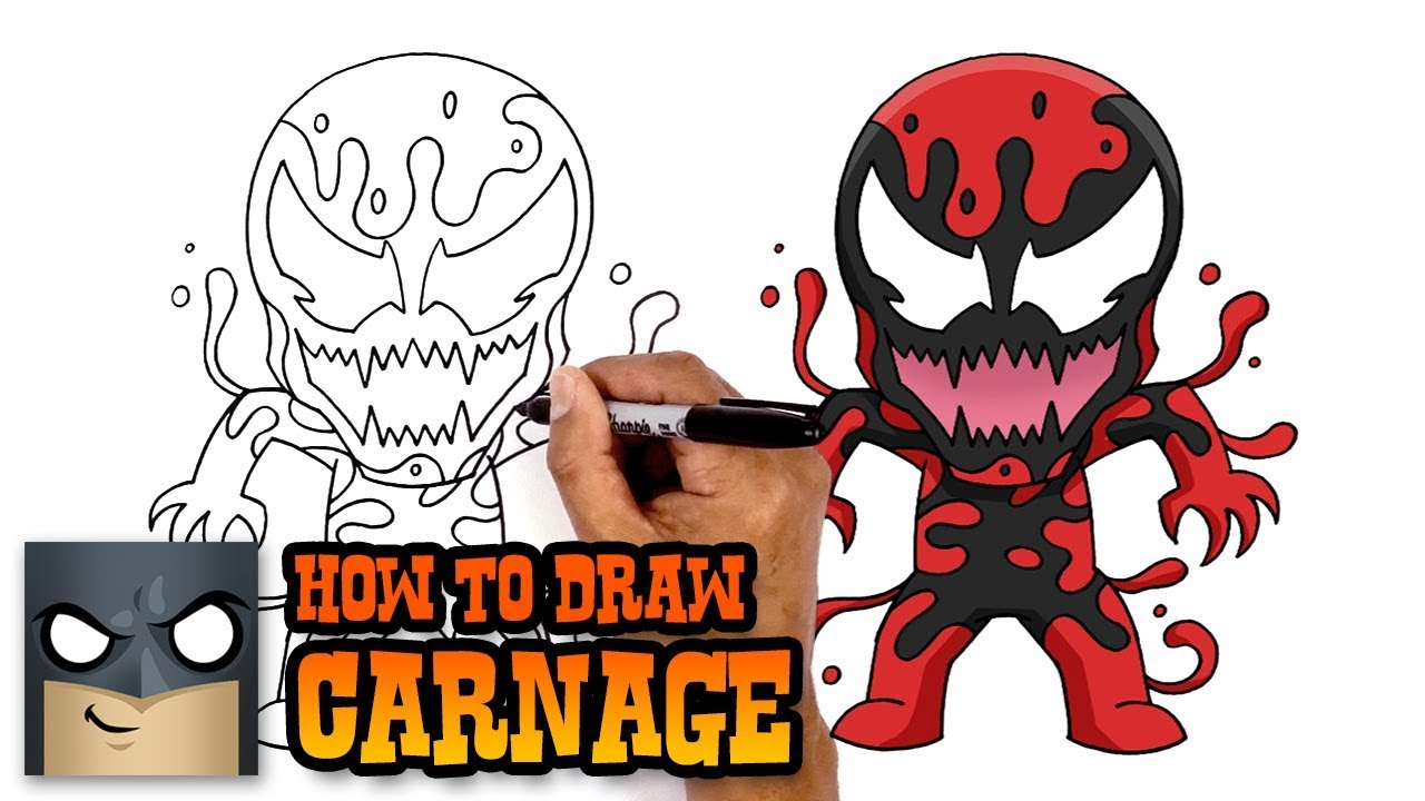 How To Draw Carnage Art Tutorial Youtube