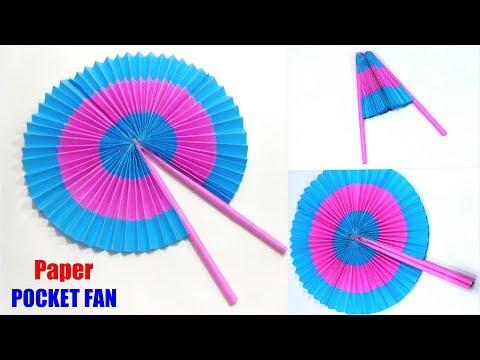 DIY Paper POCKET FAN 🌞 Summer Special Easy Paper Folding POCKET FAN Making Tutorial