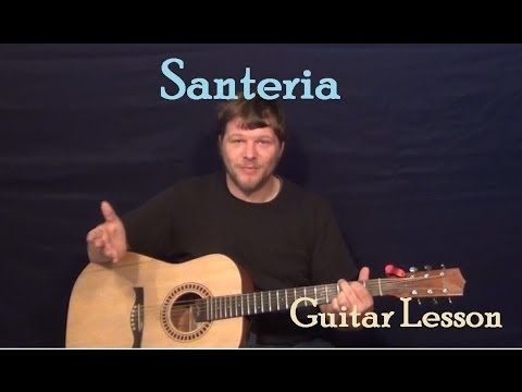 Santeria (Sublime) Guitar Lesson How to Play Tutorial with Chords and Licks