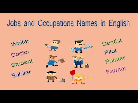 Jobs and Occupations Names in English Part 2 | List of Jobs and Occupations