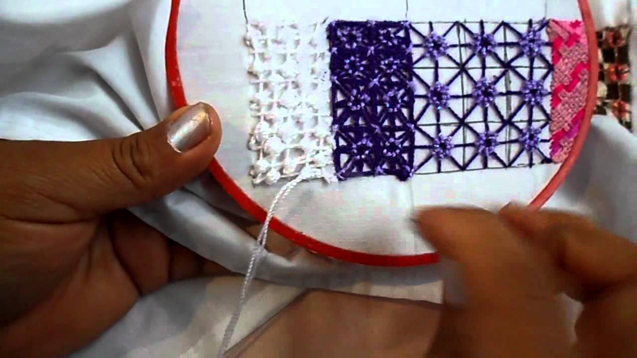 Puntada de bordado n 118 el club de nelly funnycat tv for Como hacer alfombras en bordado chino