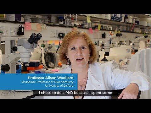 PhD advice from Alison Woollard, Associate Professor of Biochemistry