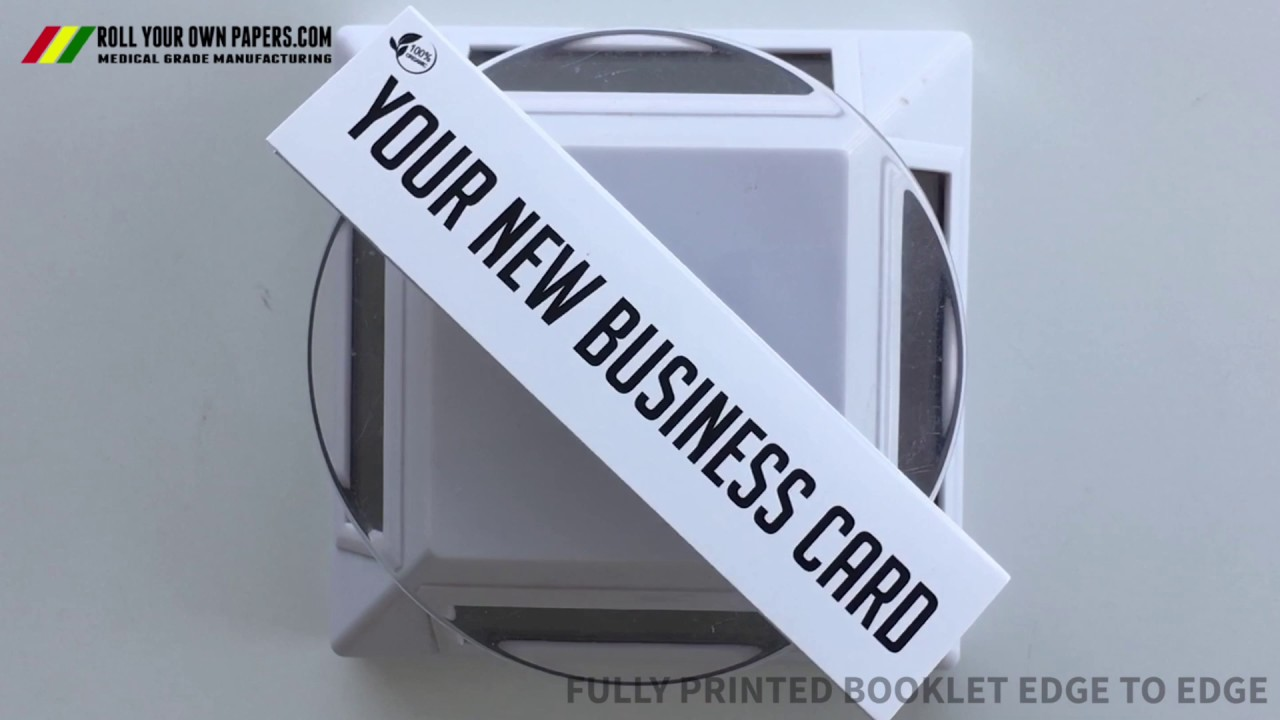 YOUR NEW BUSINESS CARD* A custom rolling paper booklet ; ) - YouTube