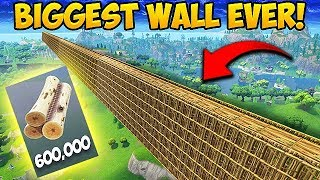 *FIRST EVER* Wall Across the ENTIRE MAP! - Fortnite Funny Fails and WTF Moments! #292