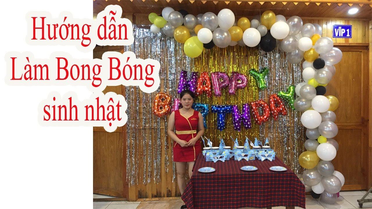 hướng dẫn làm bong bóng kiểu lung tung trang trí sinh nhật – shop bong bóng