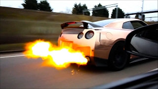 New Flame Tuned On EzekielN7 GT-R R35 & Armytrix Exhaust - WOT, PULLS & REVS!