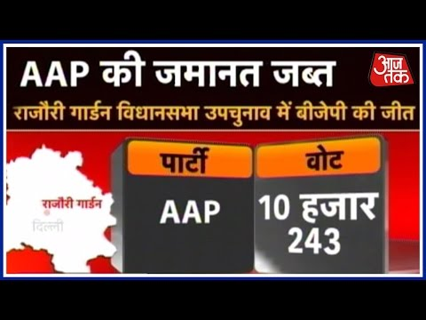 Special Report: Assembly By-Election: AAP Suffers Humiliating Defeat In Rajouri Garden
