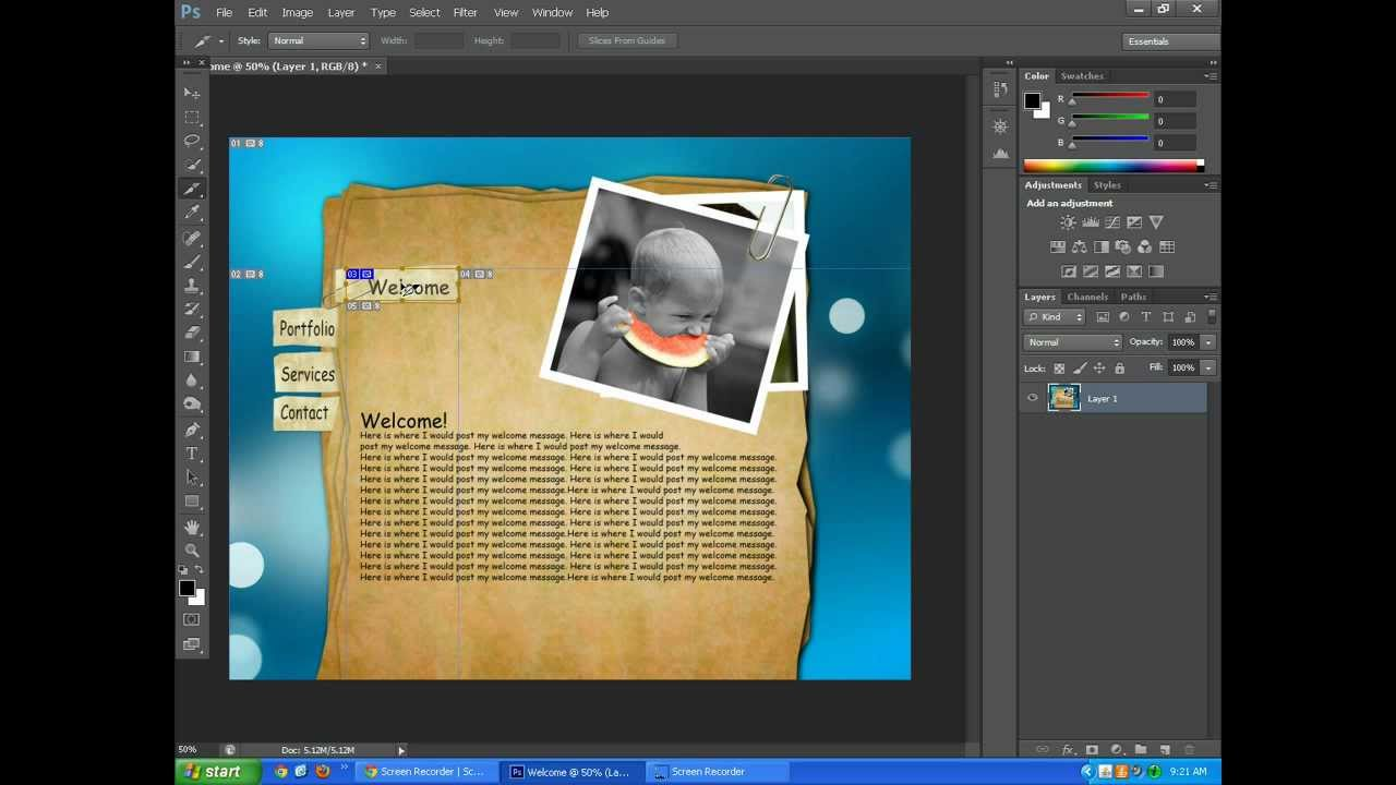 Adobe CS6 - Exporting Photoshop and Illustrator as HTML and Images ...
