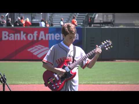 San Francisco Giants National Anthem Electric Guitar Vittorio V Squared