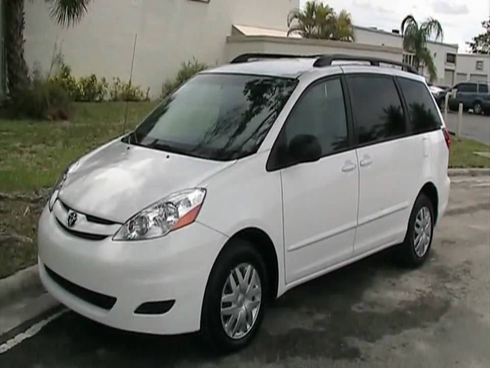 2009 Toyota Sienna LE 8 Passenger Rear DVD System Call 305 310 1223