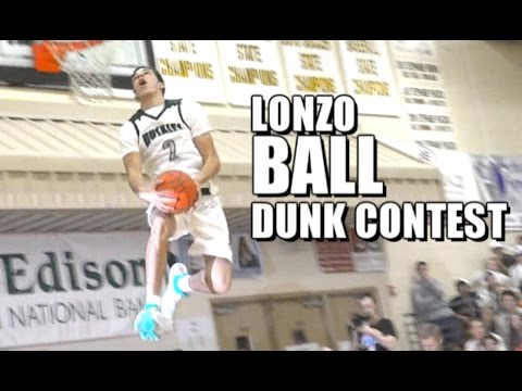 Lonzo Ball High School DUNK Contest! Chino Hills Throwback