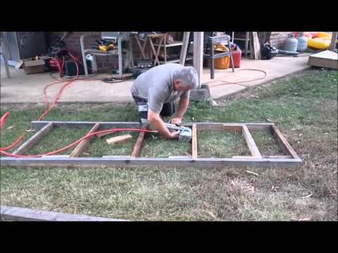Building a freestanding Scaffold for the greenhouse