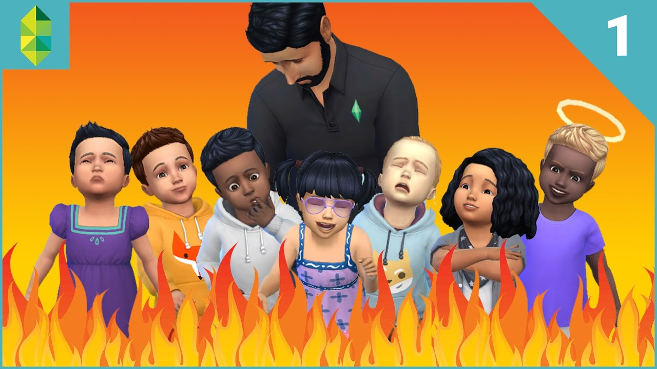 The sims 4 seven toddler challenge part 1 youtube for Sims 4 raumgestaltung