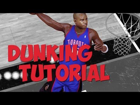 NBA 2K17 - DUNKING Tutorial: 360 Dunks, Jordan Free Throw Line Dunks, Alleyoop To Self Dunks & More